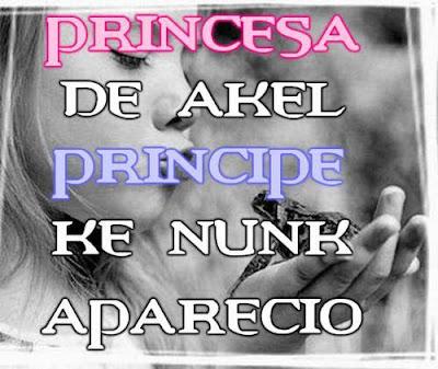 y ser princesa de aquel principe que no aparecio: