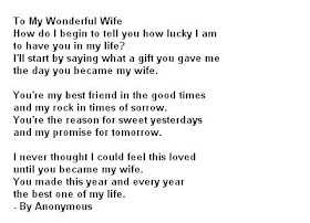 Are poem you my wife 25 Love