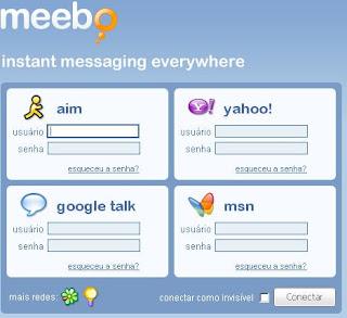 Como entrar no msn usando meebo
