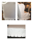 White wing chair slipcover in Living Room Furniture - Compare