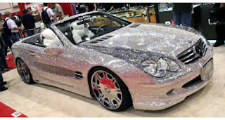 4.8 MILLION dollar M. Benz ALL diamonds.