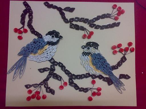 Kalalayaa 39 s art stuido quilling birds for Big quilling designs
