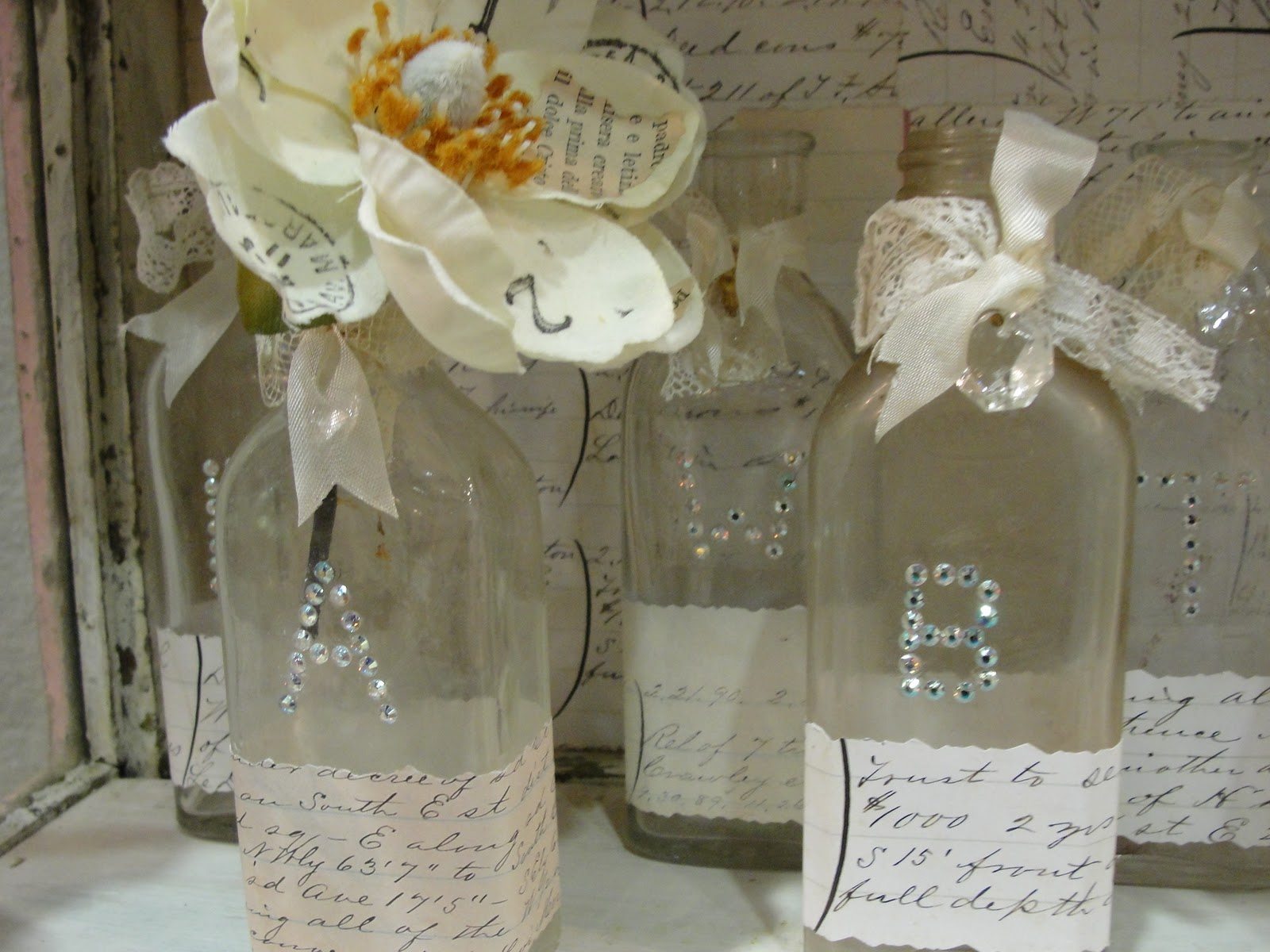 How to Decorate with Old Bottles