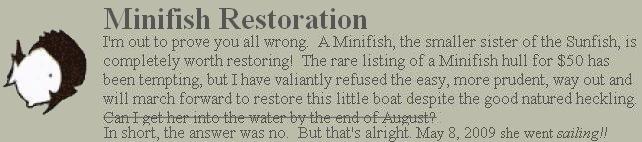 Minifish Restoration