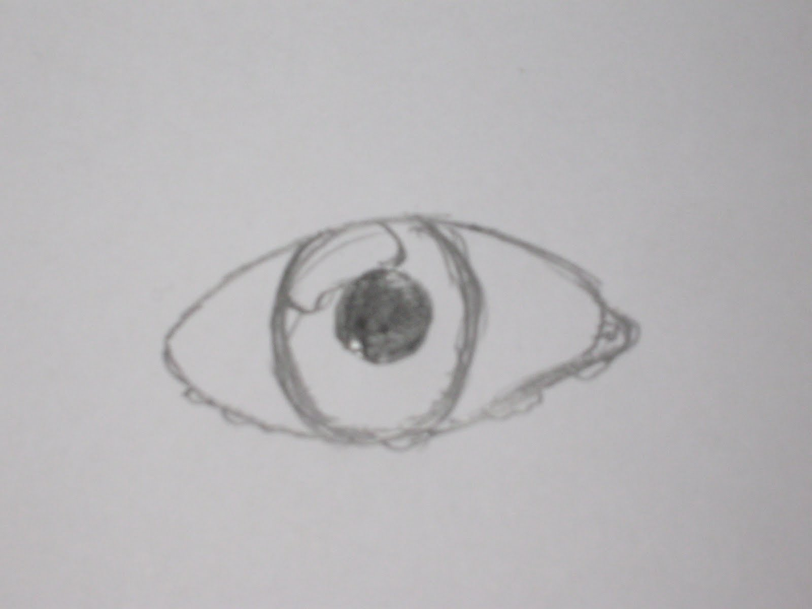 How to draw a simple human eye