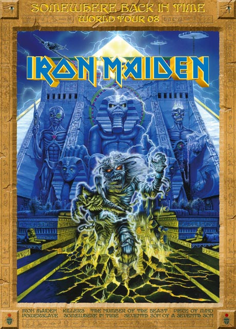 IRON MAIDEN - SOMEWHERE BACK IN TIME WORLD TOUR