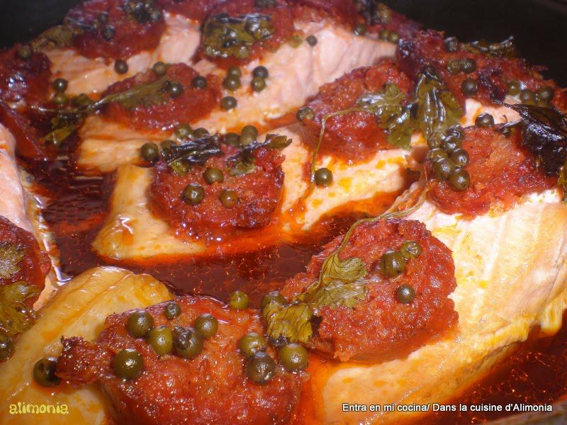 Entra en mi cocina salmon al vino de malaga saumon au for Mi cocina malaga