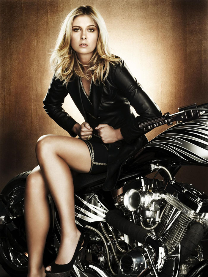 maria sharapova bike pics