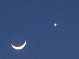 Moon and Venus - taken from Greeley, CO on 2/27/2009