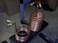 Different sized wort chillers
