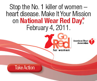 wear red day 2011, american heart association, national wear red day 2011, world cancer day 2011, world cancer day