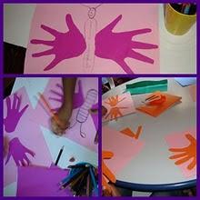 Arte com as mãozinhas...
