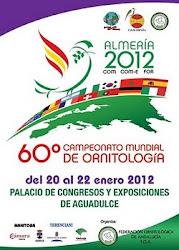 60º CAMPEONATO MUNDIAL ORNITOLOGIA DE ESPANHA ALMERIA 2012