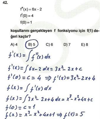 2010 lys matematik 42. soru ve çözümü