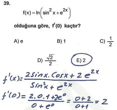 2010 lys matematik 39. soru ve çözümü