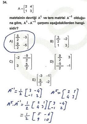 2010 lys matematik 34. soru ve çözümü