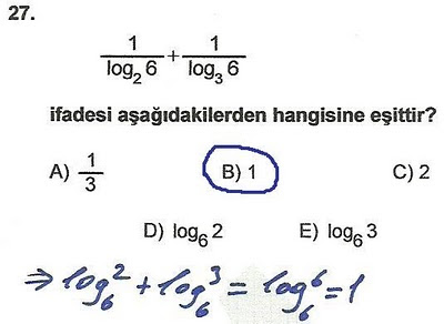 2010 lys matematik 27. soru ve çözümü