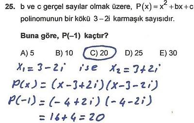 2010 lys matematik 25. soru ve çözümü