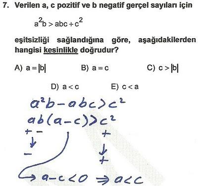 2010 lys matematik 7. soru ve çözümü