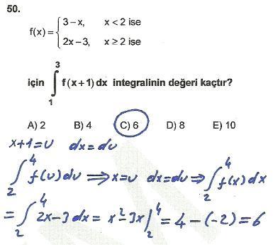 2010 lys matematik 50. soru ve çözümü