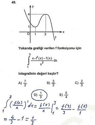 2010 lys matematik 49. soru ve çözümü