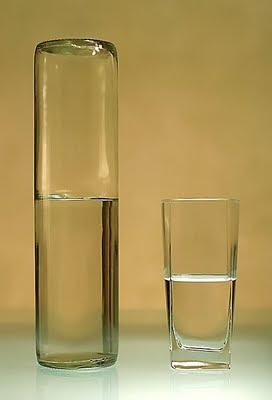 ¿ El vaso medio medio lleno o medio vacío ?  Vasio-medio-lleno