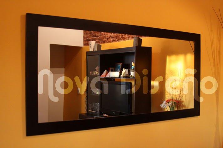 Nova dise o espejo wengue moderno minimalista for Espejos con marcos modernos