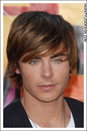 long male hairstyle. Trendy male haircuts