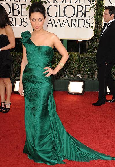 2011 Golden Globes Red Carpet Best Dressed: Mila Kunis in Vera Wang