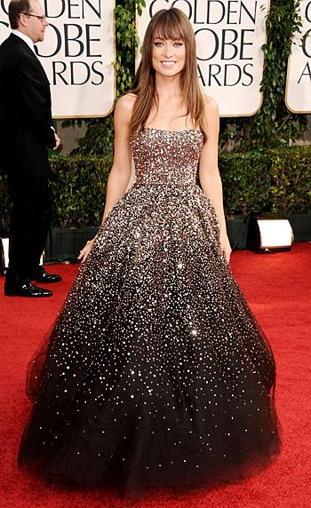 golden globes olivia. Olivia Wilde Marchesa dress Golden Globes 2011