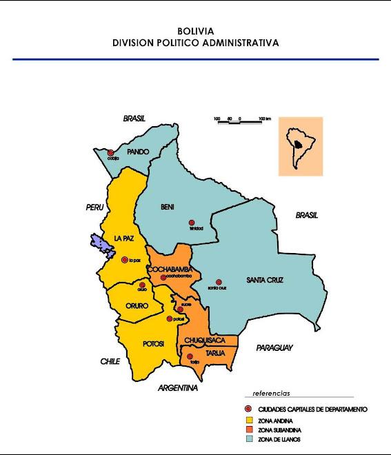 Mapa Regional de Bolivia