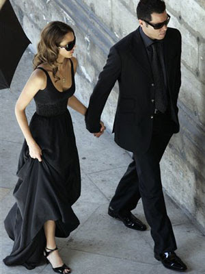 Vestido negro largo de boda