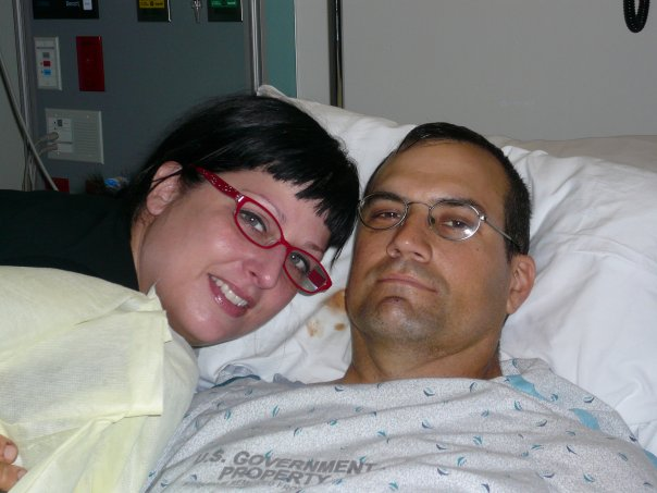 Todd and Tara in hospital