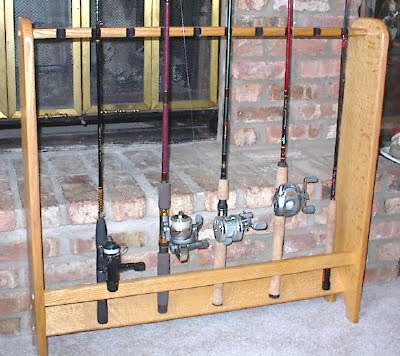 How to make a fishing rod rack how to make a fishing rod rack for How to make a fishing pole holder