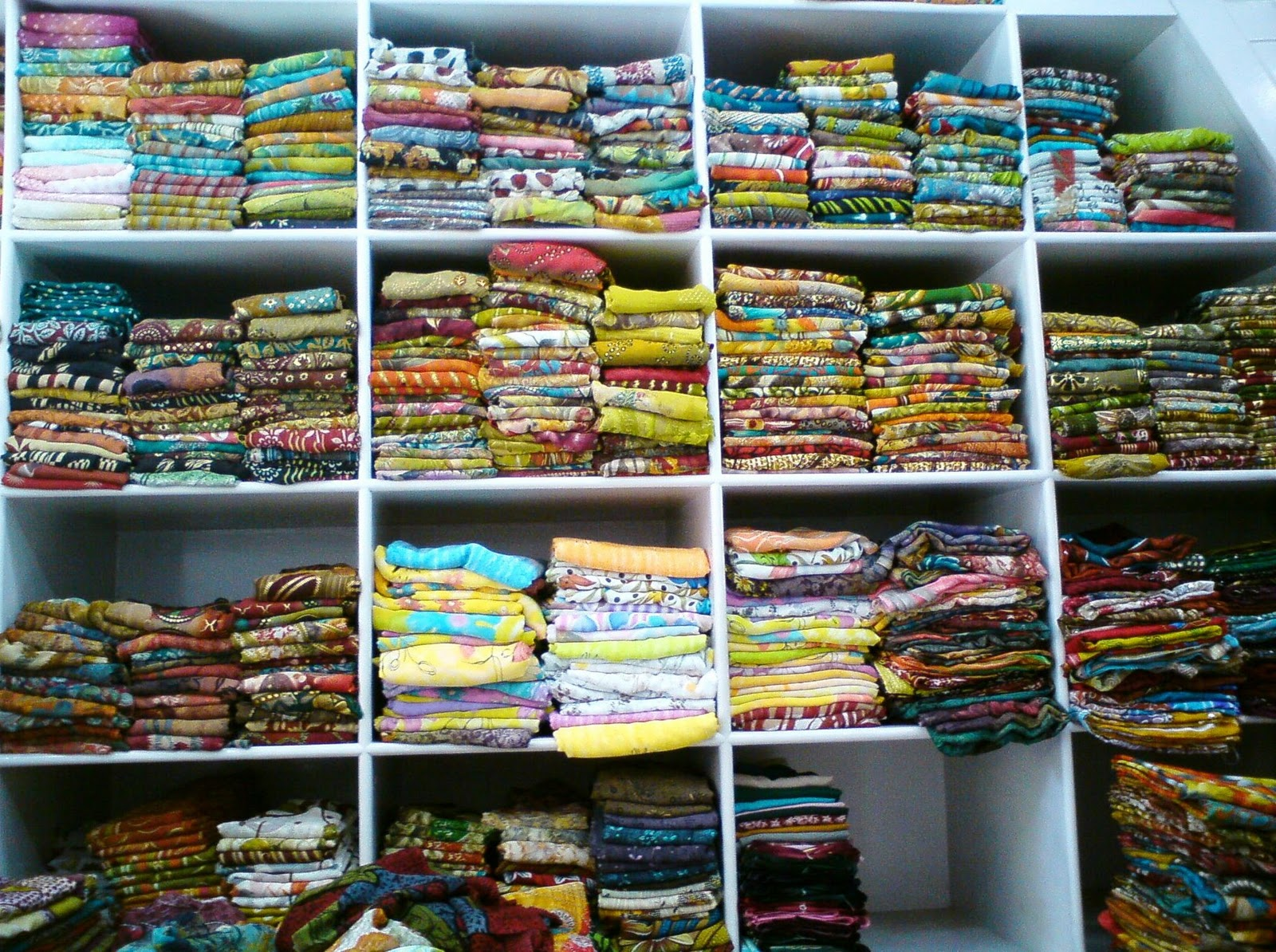 [ Beautiful Sarees stacked up