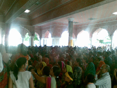 People at the Govind Devji Temple