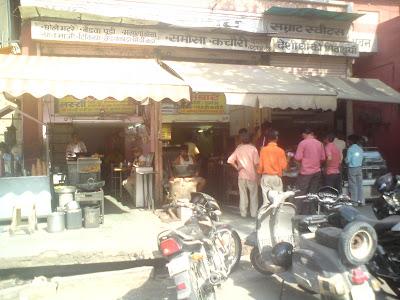 Samrat, a famous Kachori shop in Chaura Raasta, Jaipur
