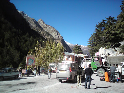 Parking lot at Gangotri - Char Dham