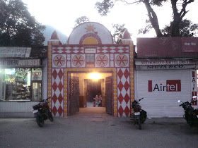 The entrance to the famous Kashi Vishwanath Temple of 