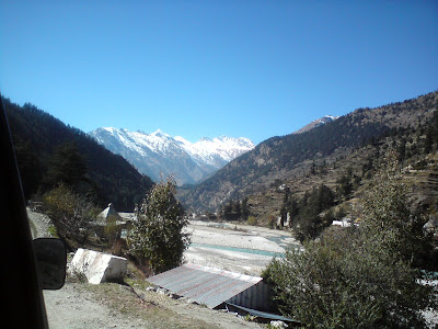Snow clad mountains at Harsil - Enroute to Gangotri