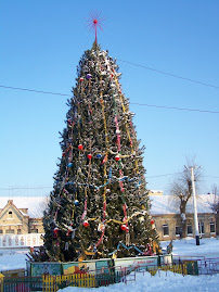 Christmas tree in Kotovsk