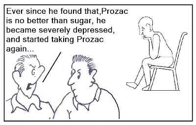 effective anti-depressant, prozac effectiveness study, prozac efficacy study, prozac sugar pill, prozac depression pill cartoon