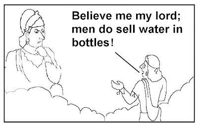 bottled water, selling water, god,
