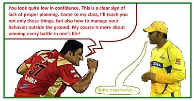 dhoni kumble chennai super kings csk royal challengers bangalore rcb clt20 cricket cartoon
