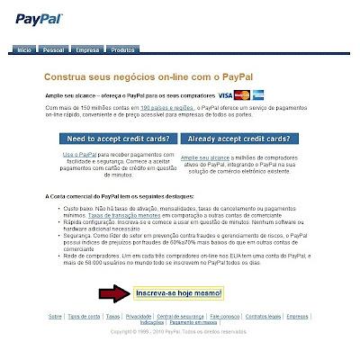 Registo PayPal - PTCs em Prática