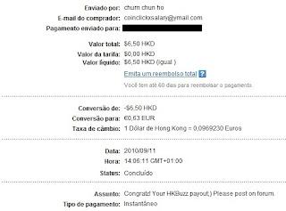 Pagamento HKBuzz - PTCs em Prática