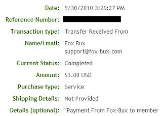Pagamento Fox-Bux - PTCs em Prática