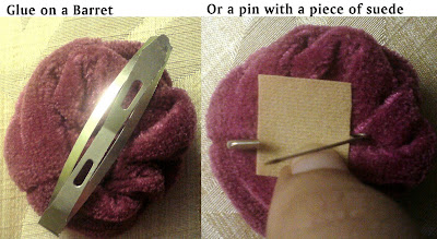 recycling work: how to convert a hairband into a brooch/clip