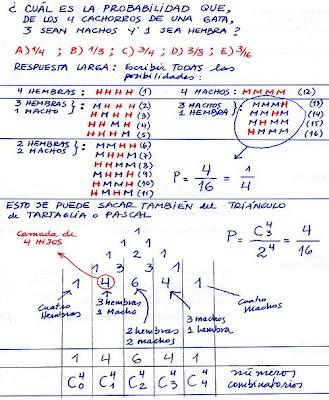 psu-matematicas: Desafío - Probabilidad / Triángulo de Pascal