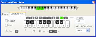 La fenêtre piano keys